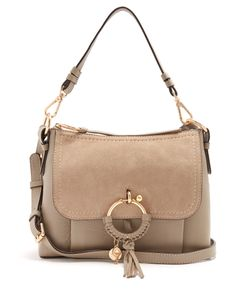 See By Chloe | Joan Small Suede-Panelled Leather Bag