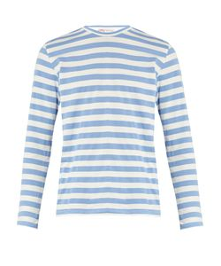 ORLEY | Striped Long-Sleeved Cotton T-Shirt