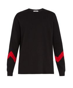 Givenchy | Zigzag-Panel Crew-Neck Cotton-Blend Sweatshirt