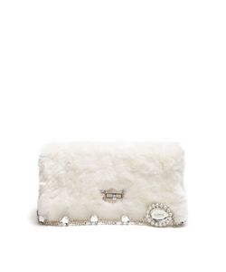 Miu Miu | Crystal-Embellished Fur Shoulder Bag