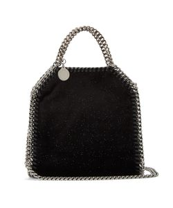 Stella Mccartney | Tiny Bella Glitter And Velvet Cross-Body Bag