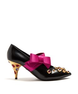 Prada | Bow-Embellished Leather Pumps