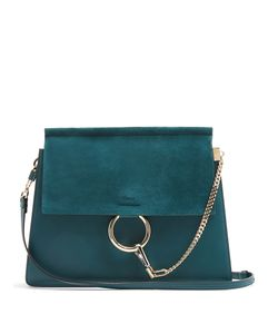Chloe | Faye Medium Suede And Leather Shoulder Bag