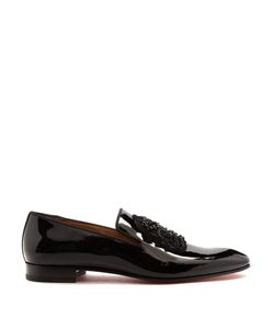 Christian Louboutin | Ecupump Logo-Crest Patent-Leather Loafers