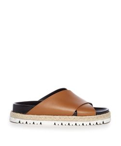 Marni | Cross-Strap Leather Slides
