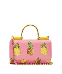 Dolce & Gabbana | Pineapple-Print Leather Cross-Body Bag