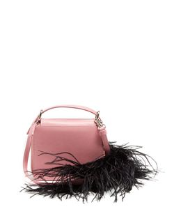 Marques Almeida | Feather-Trimmed Leather Cross-Body Bag