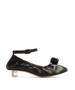 Simone Rocha   Perspex-Tooth Heel Leather Ballet Pumps