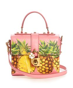 Dolce & Gabbana | Dolce Box Pineapple-Print Leather Bag