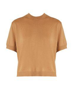 Miu Miu   Gingham-Tie Button-Back Wool Sweater
