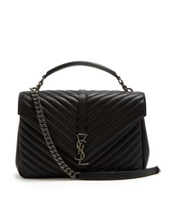Saint Laurent | Collège Large Quilted Shoulder Bag