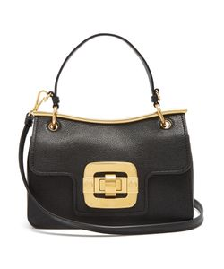 Miu Miu | Waved-Frame Grained-Leather Shoulder Bag