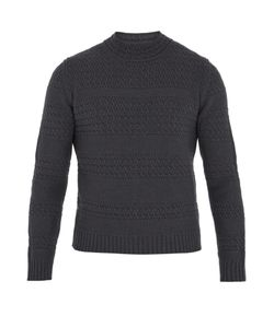 Boglioli | Striped Cable-Knit Wool-Blend Sweater