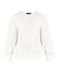 Calvin Klein Collection   Lotti Linen Herringbone Top