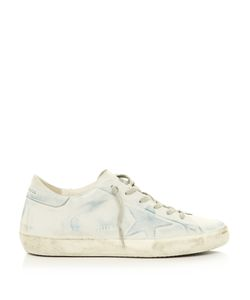 Golden Goose | Super Star Low-Top Denim-Effect Leather Trainers