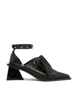 Marques Almeida | Frill Leather Lace-Up Pumps
