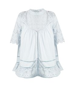 Zimmermann | Caravan Embroidered Cotton And Silk-Blend Top