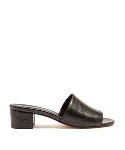 Maryam Nassir Zadeh | Sophie Crocodile-Effect Leather Mules