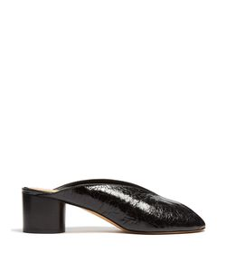 Isabel Marant | Measha Cracked-Leather Mules