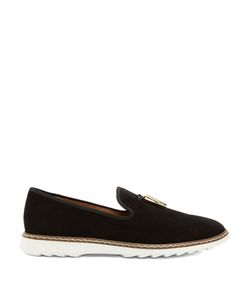 Giuseppe Zanotti Design   Stew Shark-Tooth Brushed-Leather Loafers