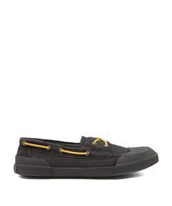 Lanvin   Rubber And Canvas Deck Shoes