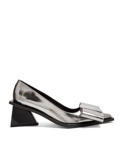 Marques Almeida | Oversized-Bow Leather Pumps