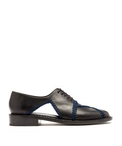Robert Clergerie | Jofre Crochet-Trimmed Leather Shoes