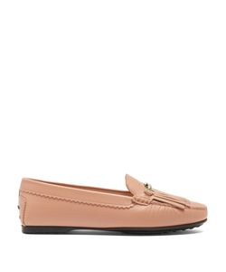 Tod'S | Gommini Double T-Bar Leather Loafers