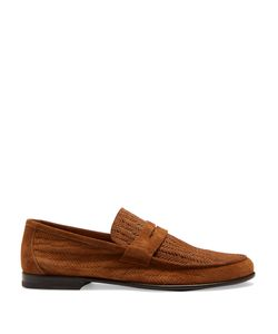 Harrys Of London | James Embossed-Suede Loafers