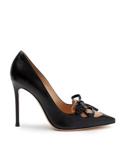 Gianvito Rossi | Corset Lace-Up Point-Toe Leather Pumps