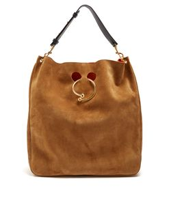J.W. Anderson | Pierce Hobo Large Suede Shoulder Bag