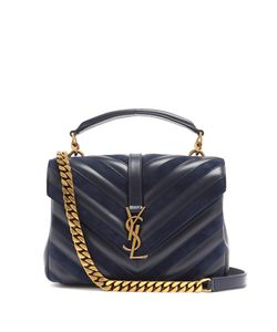 Saint Laurent | Collège Medium And Suede Shoulder Bag