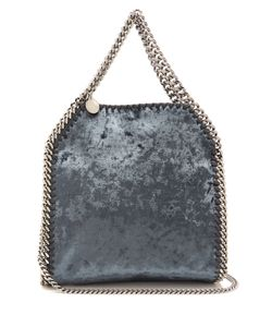 Stella Mccartney | Falabella Crushed-Velvet Mini Cross-Body Bag