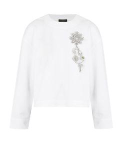 Burberry | Crystal-Embellished Crew-Neck Cotton Sweatshirt