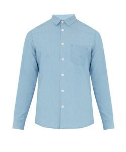 A.P.C. | Xavier Point-Collar Cotton-Chambray Shirt
