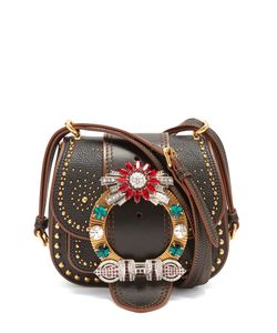 Miu Miu | Dahlia Embellished Leather Cross-Body Bag