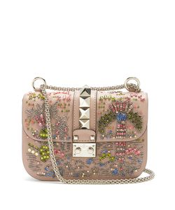 Valentino | Lock Small Embellished Shoulder Bag