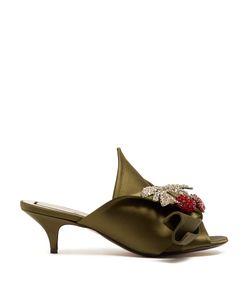 No. 21 | Crystal-Embellished Kitten-Heel Satin Mules