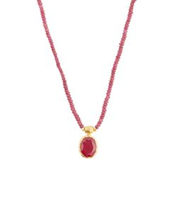 JADE JAGGER | Ruby Sterling Necklace