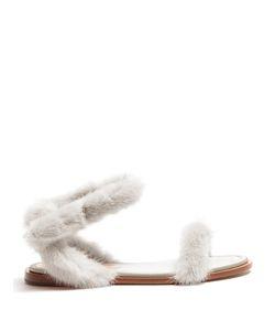 Valentino | Fur-Trimmed Sandals