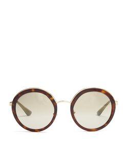 Prada Eyewear   Round Acetate Sunglasses