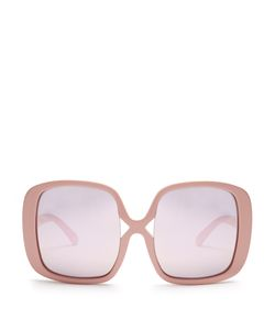 KAREN WALKER EYEWEAR | Marques Oversized Mirror Sunglasses