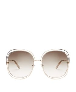 Chloe | Modified Oversized Square-Frame Sunglasses