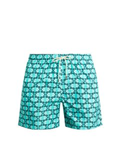 LE SIRENUSE, POSITANO | Siren Flowers-Print Swim Shorts