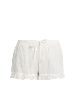 Mes Demoiselles | Olbia Ruffle-Trimmed Cotton Shorts