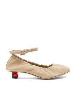Simone Rocha | Perspex-Tooth Heel Leather Ballet Pumps