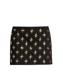 Balmain | Embellished Velvet Mini Skirt