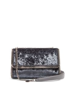 Stella Mccartney | Falabella Crushed-Velvet Sliding Shoulder Bag
