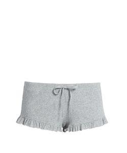 Skin   Frilled-Hem Cotton Pyjama Shorts