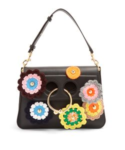 J.W. Anderson | Pierce Medium Crochet-Appliqué Shoulder Bag